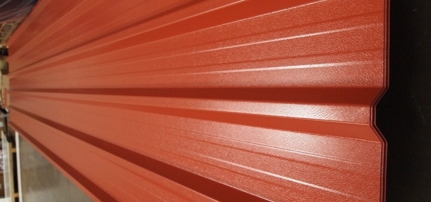 Terracotta 0.7mm Plastisol Roofing Sheets